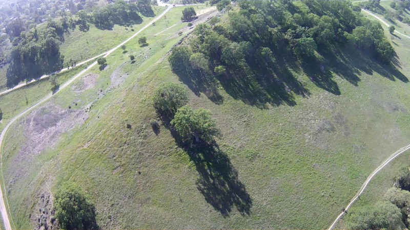 Quadcopter flyover of Fossil Hill revegetation project, March 21, 2014.