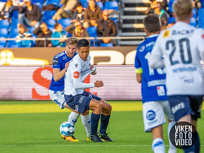Sarpsborg 08s Niklas Gunnarsson i kampen mellom Sarpsborg 08 og Stabæk. Foto: Thomas Andersen