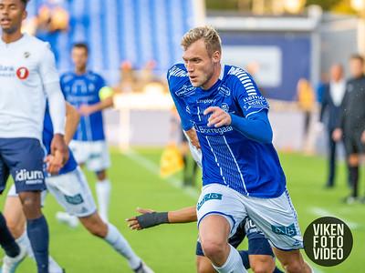 Sarpsborg 08s Jonathan Lindseth i kampen mellom Sarpsborg 08 og Stabæk. Foto: Thomas Andersen