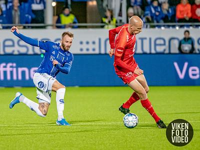 Sarpsborg 08s Kristoffer Larsen i kampen mellom Sarpsborg 08 og Brann. Foto: Thomas Andersen