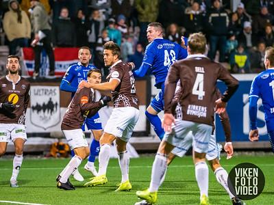 Sarpsborg 08s Kyle Lafferty i kampen mellom Mjøndalen og Sarpsborg 08. Foto: Thomas Andersen