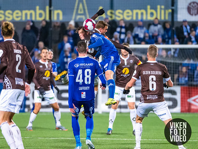 Sarpsborg 08s Gaute Vetti i kampen mellom Mjøndalen og Sarpsborg 08. Foto: Thomas Andersen