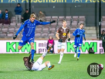 Sarpsborg 08s Jonathan Lindseth i kampen mellom Mjøndalen og Sarpsborg 08. Foto: Thomas Andersen