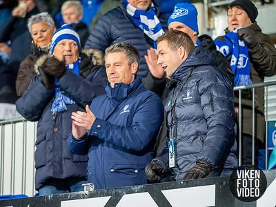 Thomas Berntsen og Bjørge Øiestad før kampen mellom Sarpsborg 08 og Tromsø. Foto: Thomas Andersen