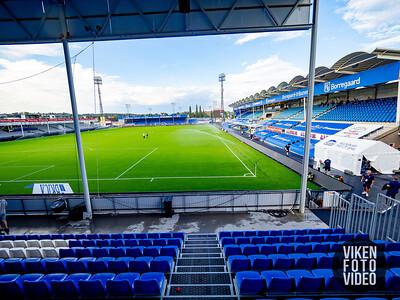 Stadion gjøres klar til kamp. Foto: Thomas Andersen.