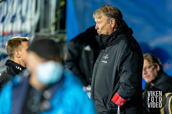 RBK-trener Åge Hareide før kampen mellom Sarpsborg 08 og Rosenborg. Foto: Thomas Andersen