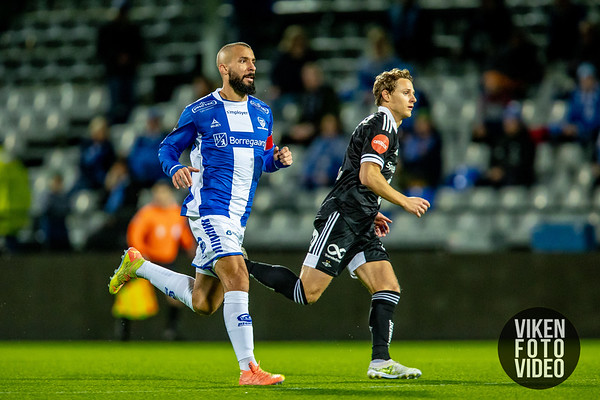 Sarpsborg 08s Guillermo Molins i kampen mellom Sarpsborg 08 og Rosenborg. Foto: Thomas Andersen