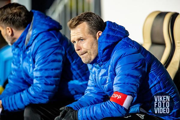 Sarpsborg 08s trener Mikael Stahre før kampen mellom Sarpsborg 08 og Rosenborg. Foto: Thomas Andersen