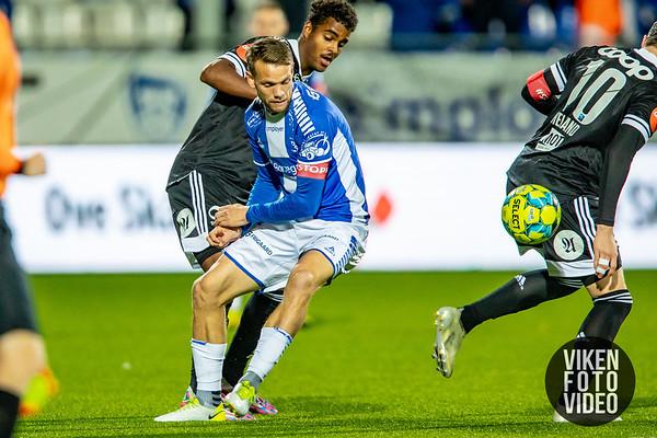Sarpsborg 08s Ole Jørgen Halvorsen i kampen mellom Sarpsborg 08 og Rosenborg. Foto: Thomas Andersen
