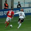 #14 Jörgen Skjelvik och #22 Daniel Bamberg i kamp om bollen
