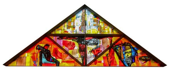 Vejleå Kirke Glasmosaik
