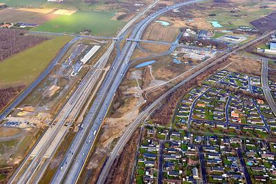 Koege Nord Station luftfoto december 2017