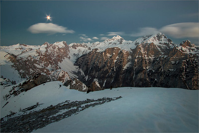 Mt. Triglav in the moonloght