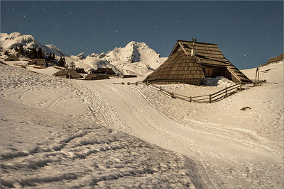 Shepard's huts on Velika Planina