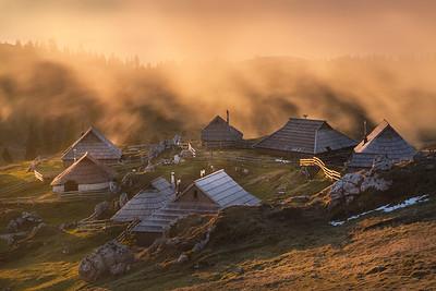 Wooden shepard's huts