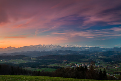Dusk over Kamnik Alps