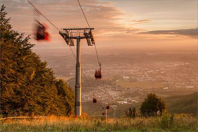 Maribor seen from Pohorje