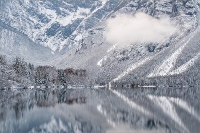 Bohinj lake in winter