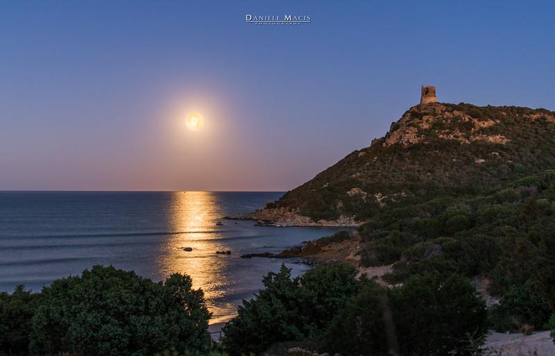 L'alba della luna - Porto Giunco (Villasimius)