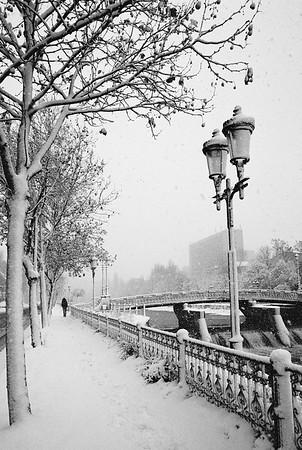 Snowy day in Bucharest, nov. 2019