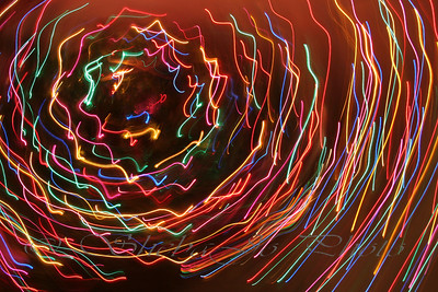 Christmas tree light art... art? or just FUN? ;)