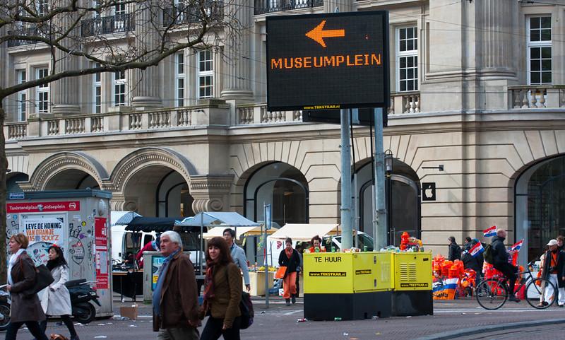 Amsterdam rond 9:00 uur