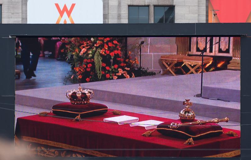 Tv-scherm op de Dam