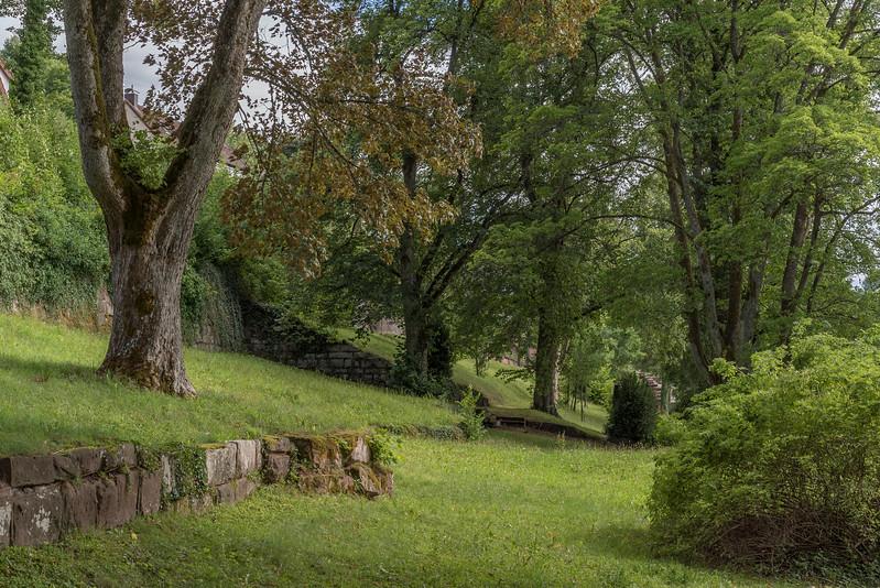 Oude begraafplaats van het plaatsje Altensteig in het Schwarzwald