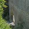 Romeins Aquaduct in de buurt van Aosta Italië