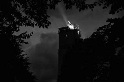 Brandaris bij nacht