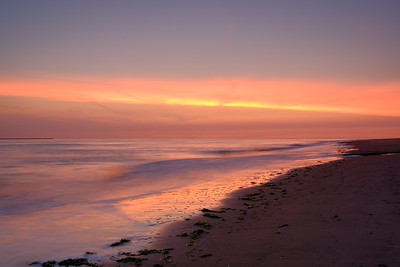 Zonsondergang aan het strand - Ameland #1