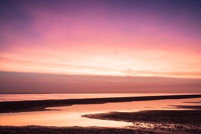Zonsondergang aan het strand - Ameland #3