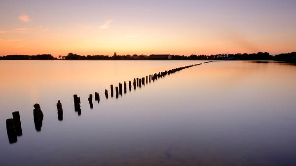 Sunset and mirrorlike water [#015]