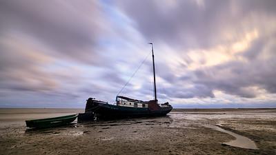 Drooggevallen boot