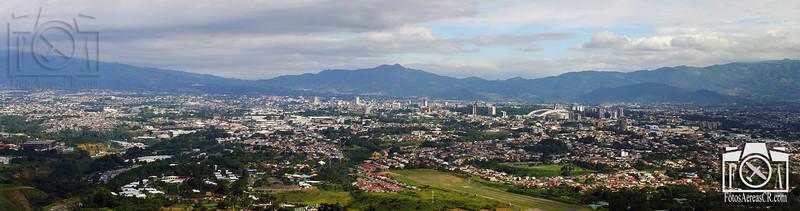 Panorámica aérea de San José, Costa Rica. <br /> Noviembre 2011