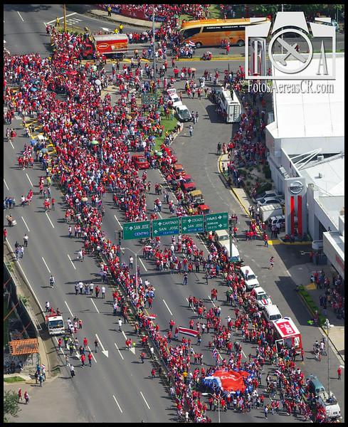 Regreso de la Seleccion Nacional de Futbol a Costa Rica, despues de su exitosa participacion en el Campeonato Mundial Brasil 2014<br /> <br /> La Sabana, San Jose<br /> Julio 2014