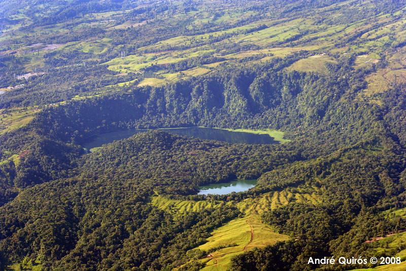 Hule Lagoon. Remains of an ancient volcano