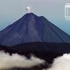 Erupción pequeña del Volcán Arenal