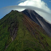 Close up of the top of Arenal Volcano.