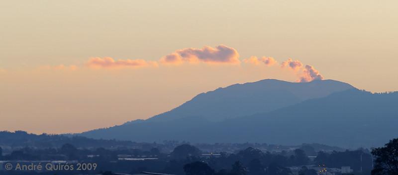 December 24th, 2009. Turrialba volcano.