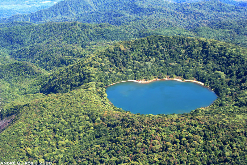 Botos Lake, on the Poas Volcano
