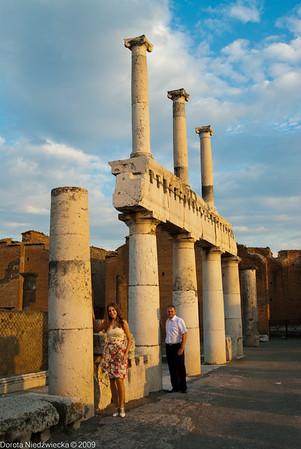 Plener w Pompejach