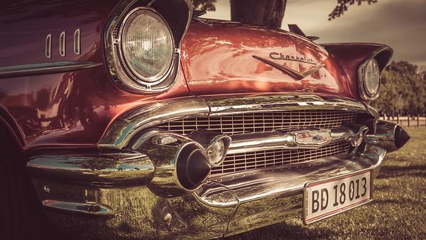 Gamle biler på Roskilde havn
