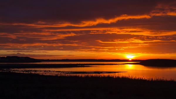 Solnedgang over Roskilde Fjord .Okt 2010