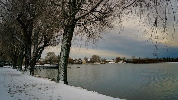 Vintermorgen ved Gentofte sø feb 2017