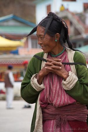 Tawang, Arunachal Pradesh, Indija (2008) - Del Arunachala s tibetanskim vplivom. In posebnim stilom frizur.