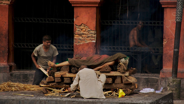Pashupatinath, Nepal (2008) - Še zadnji trenutek. Iz prahu v prah, iz pepela v pepel. In ni te več.