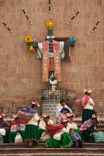 Puno, Peru (2009) - Vsepovsod prisotno božje oko bdi tudi nad Indijanci.