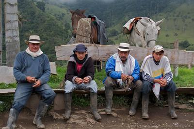 Cúcuta, Kolumbija (2009) - Kolumbijski kavboji v kavnem območju.