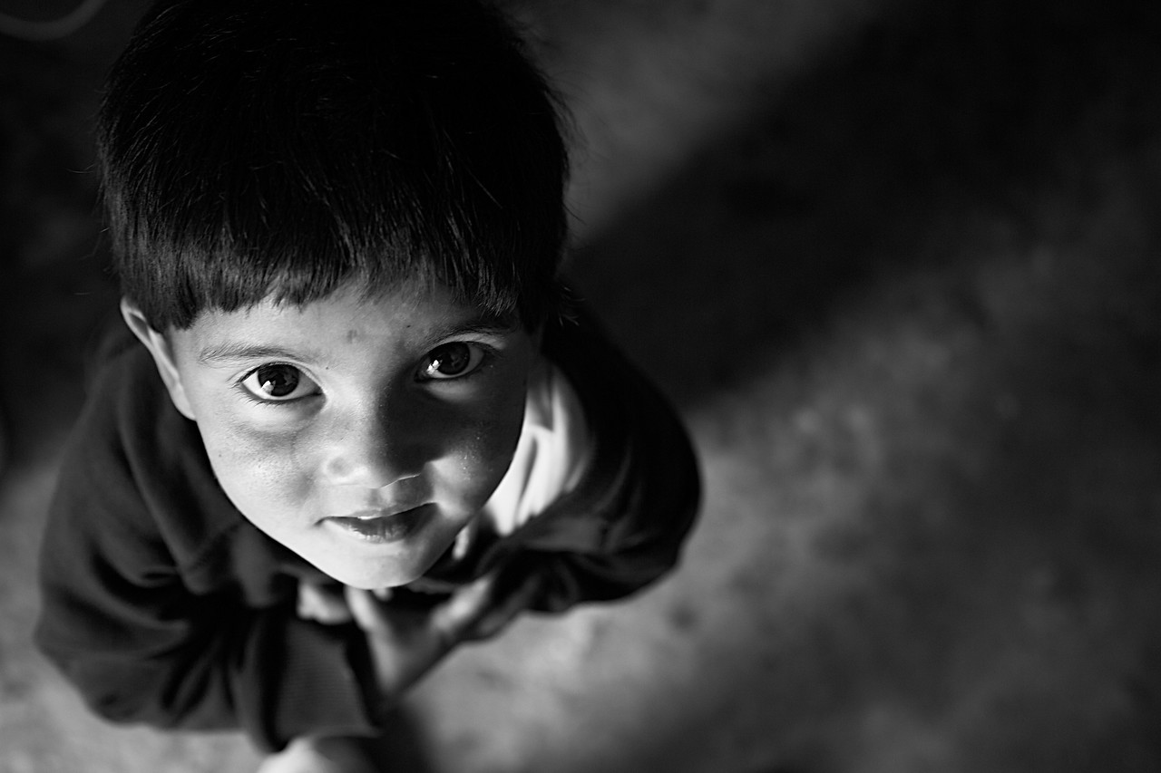 Pequeña niña Nepali